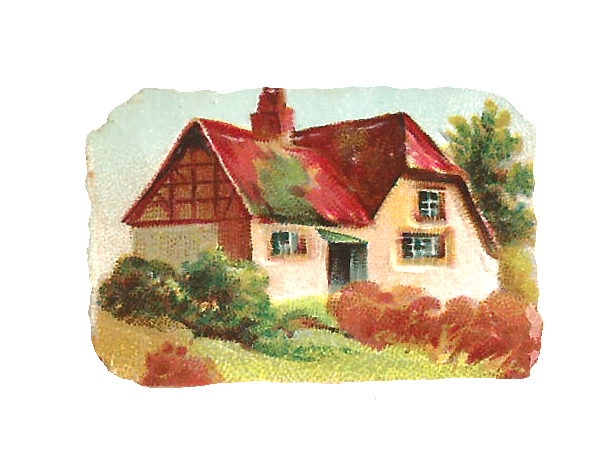 Country clipart beautiful house Art little  Clip House