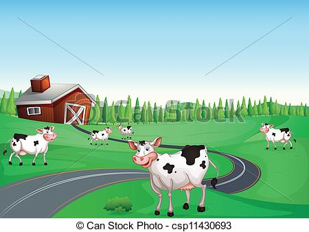 Ranch clipart cow house Cow cow and illustration of