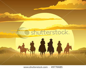 Cowboy clipart ranch Day Silhouette Cowboys Ranch the