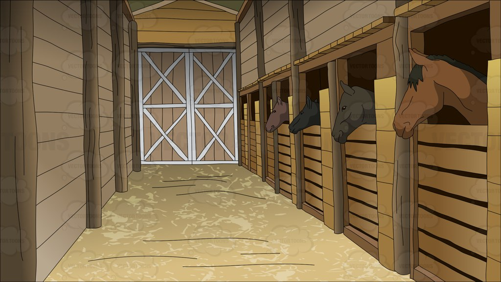Ranch clipart horse stable Background Clipart Horse Clipart Stables