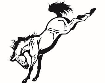 Ranch clipart rodeo Cowboy Horse Bucking Ranch clipart