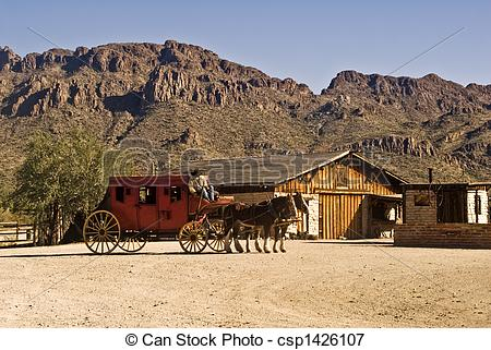 Ranch clipart stagecoach  a Stagecoach West old