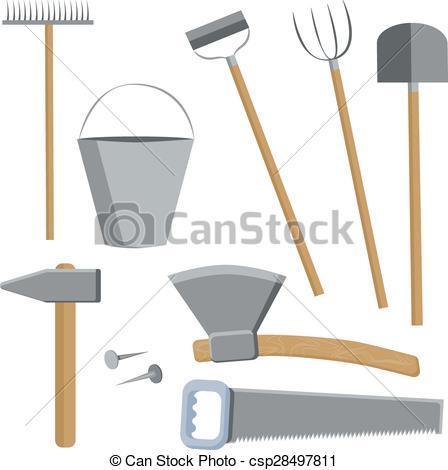 Ranch clipart tool Vector tools Clip Set farmers