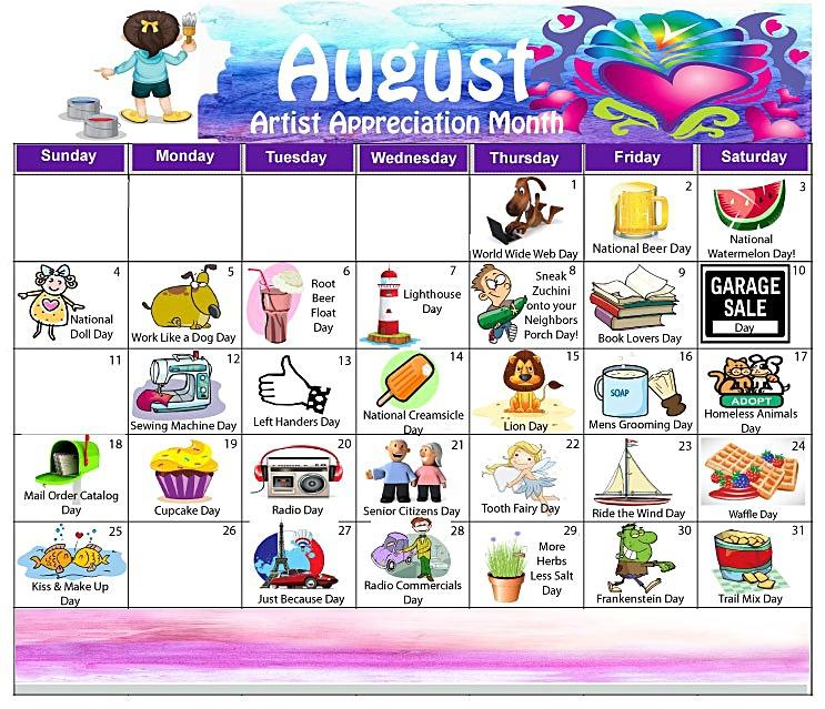 Randome clipart august #2