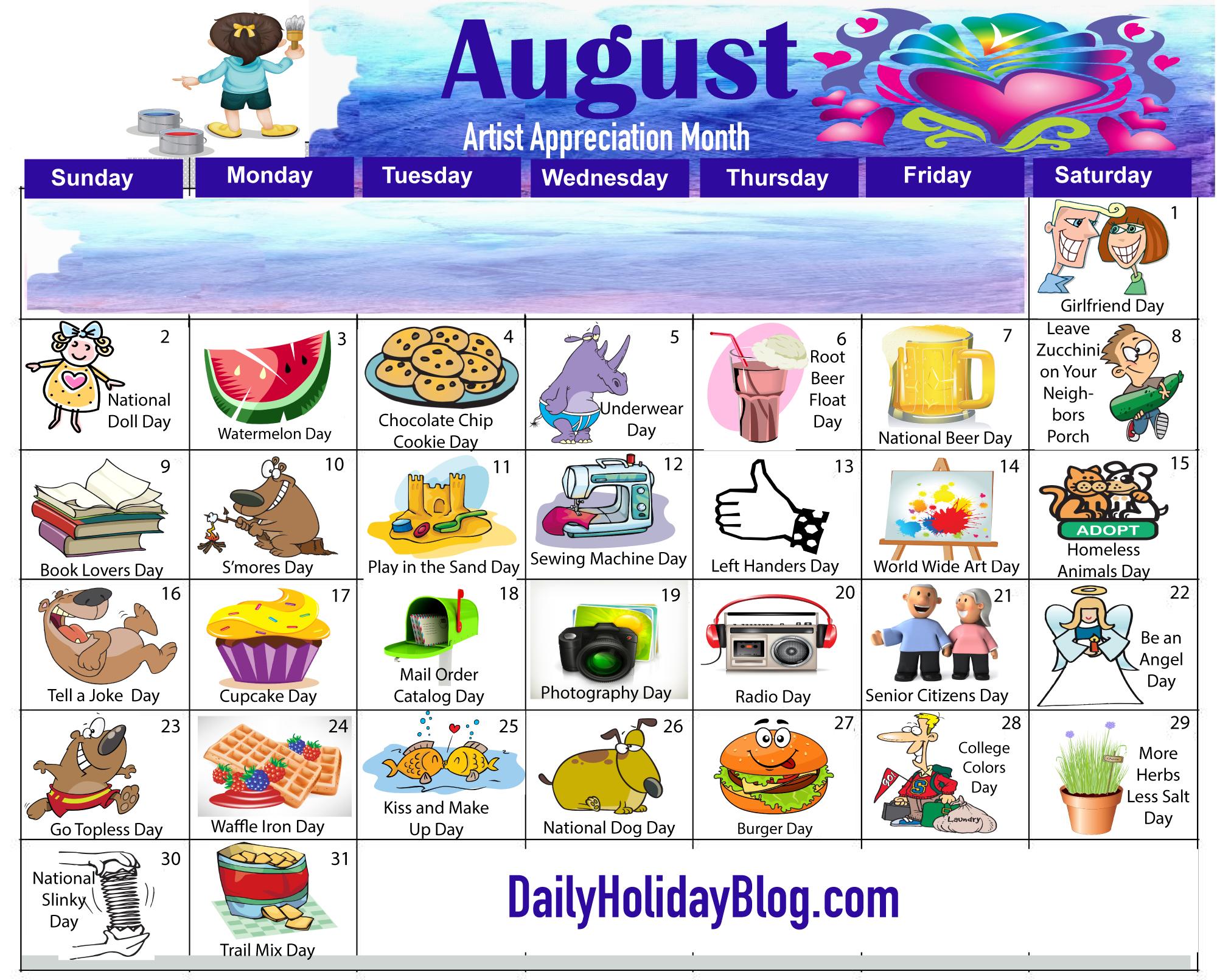 Randome clipart august #11