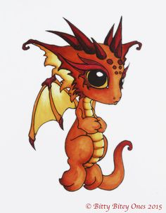 Randome clipart baby dragon #6