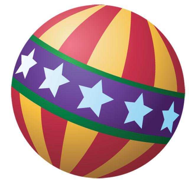 Randome clipart bouncing ball #3