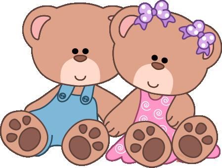 Teddy clipart baby bear  Clip bears Girl Cute