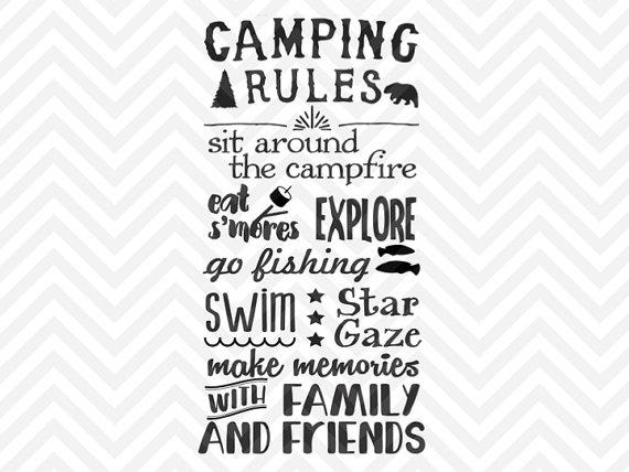 Randome clipart camp rules #2