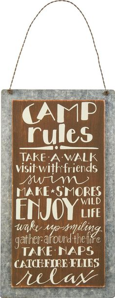 Randome clipart camp rules Relax & On Camp Metal