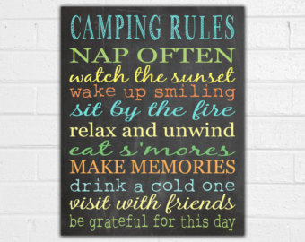 Randome clipart camp rules #11