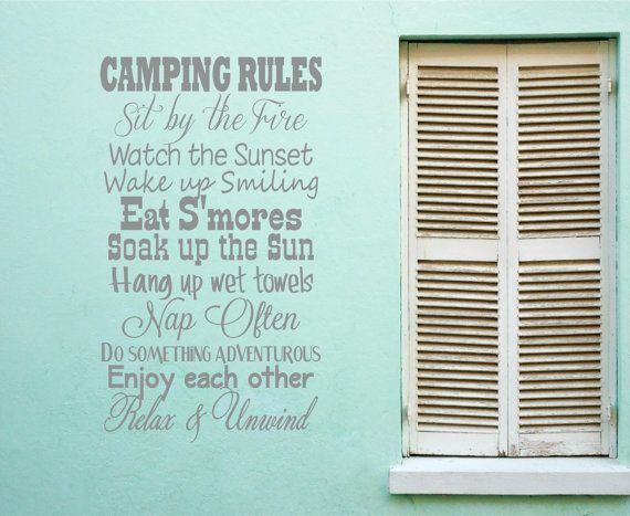 Randome clipart camp rules Vinyl Sunset Wall Camping Fire