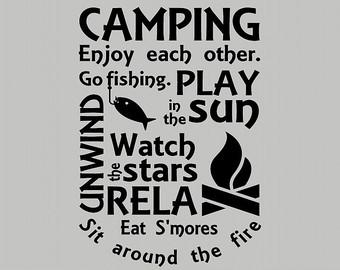 Randome clipart camp rules #13