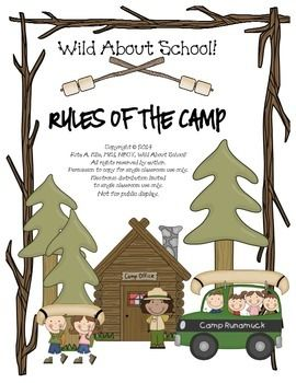 Randome clipart camp rules Sign the 23 Camping Camp