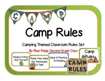 Randome clipart camp rules 24 Themed images Camp Classroom