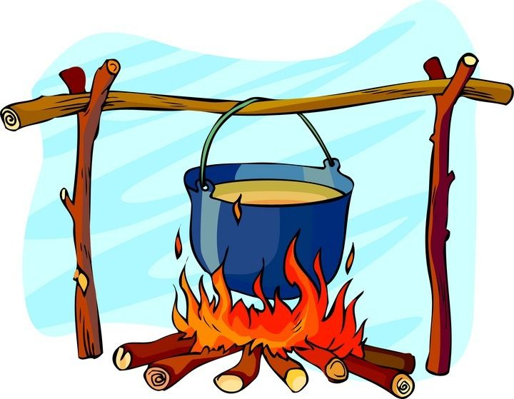 Randome clipart campfire cooking #3