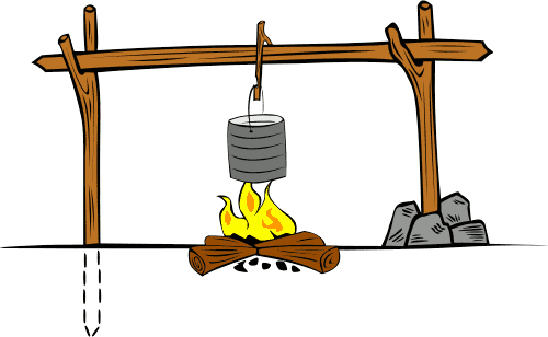 Randome clipart campfire cooking #5