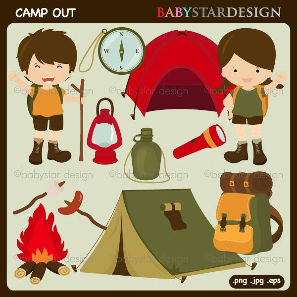 Camper clipart campout Camping  on images Theme