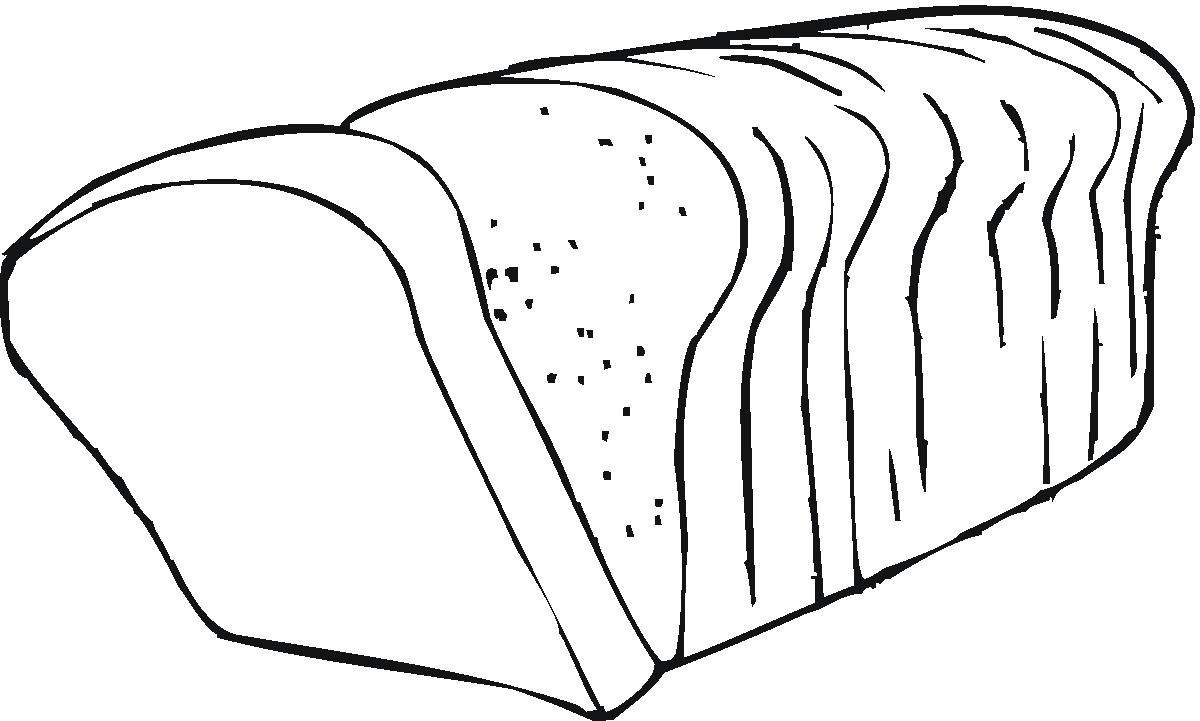 Cereal clipart black and white Image bread ClipartBarn Clipart of