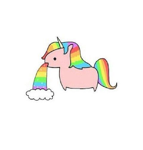 Randome clipart rainbow unicorn #2