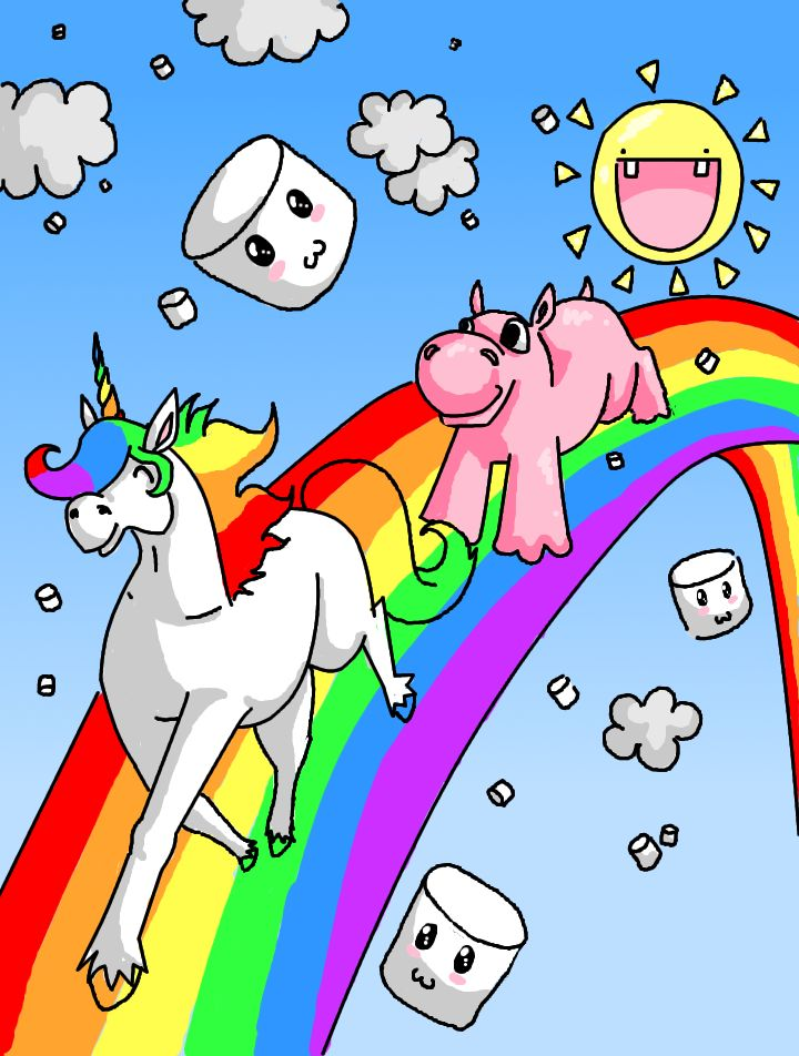 Randome clipart rainbow unicorn #7