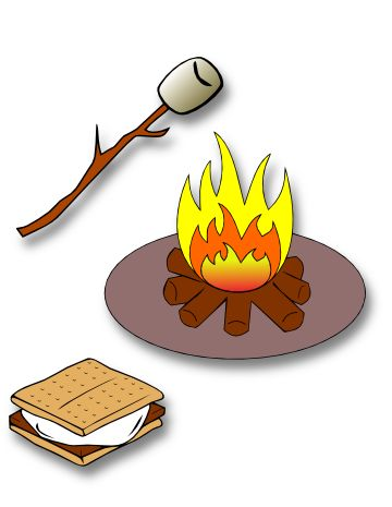 Marshmellow clipart bonfire party Smores art Smores WikiClipArt mores