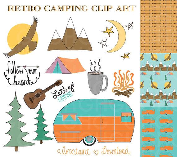 Mountain clipart retro #1