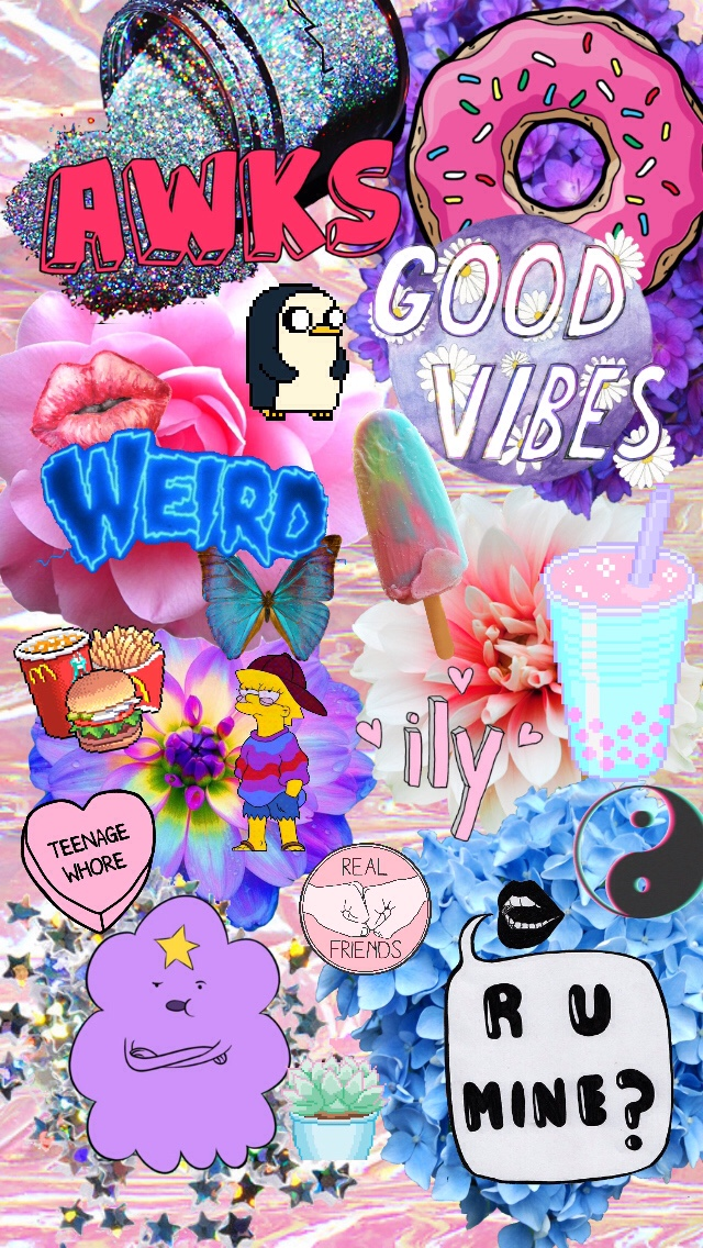 Randome clipart tumbler IPhone✨ collage Random background con
