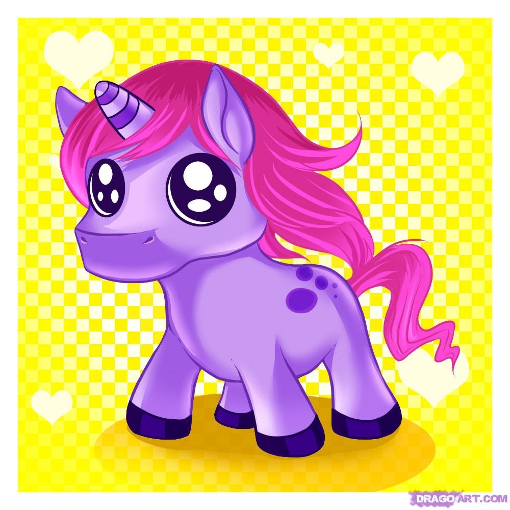 Randome clipart unicorn Step by Cartoon Art Unicorn