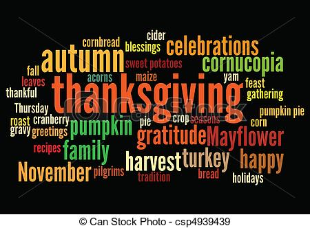 Word clipart happy thanksgiving Of of with happy layout