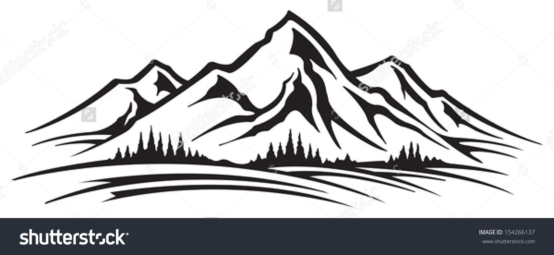 Range clipart White Mountain Range And Mountain
