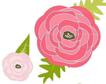 Ranuncula clipart bouquet  Flora Wedding 50% 50%