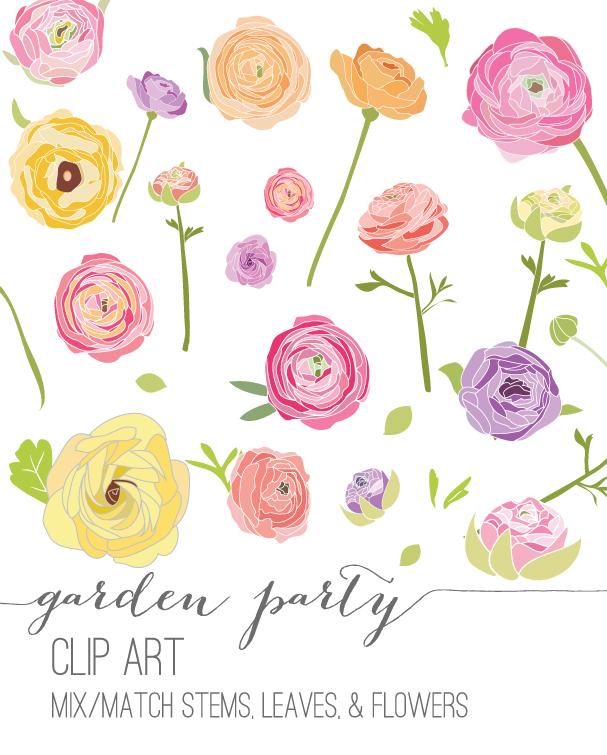 Ranuncula clipart Clip Art and Party Art