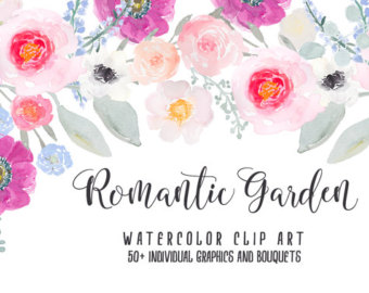 Ranuncula clipart blush flower Clip blossom Use rose Watercolor
