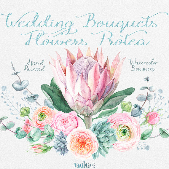 Ranuncula clipart bouquet Ranunculus Eucalyptus Wedding Wedding on