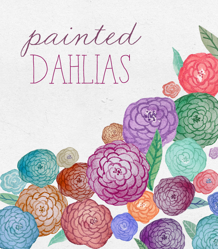 Ranuncula clipart dahlias Angiemakes Painted Flower Painted Clipart