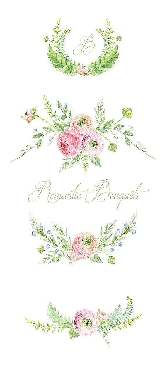 Ranuncula clipart digital Is Clip This digital Bouquets