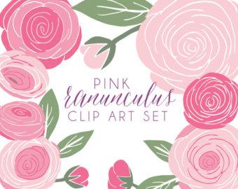 Ranuncula clipart digital Clip Floral Clip art Ranunculus