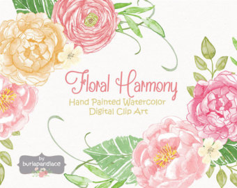 Ranuncula clipart floral ring Watercolor Ranunculus Etsy Wedding flower