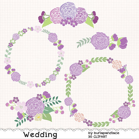 Ranuncula clipart floral ring Wedding Purple Etsy clipart flower