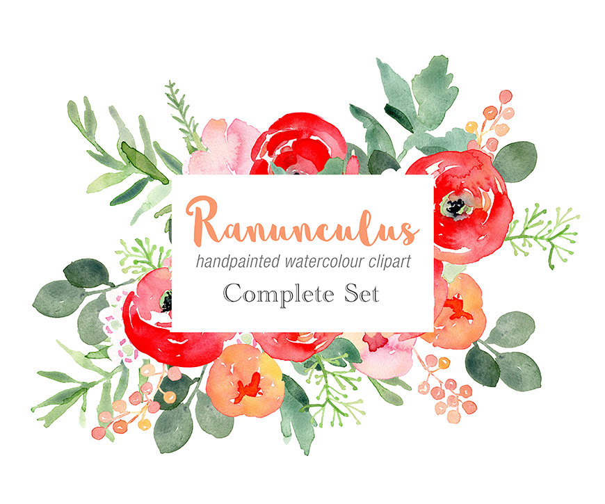 Ranuncula clipart floral ring This red  a Floral