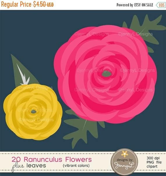 Ranuncula clipart flower leaves Leaves Flower OFF 50% Floral