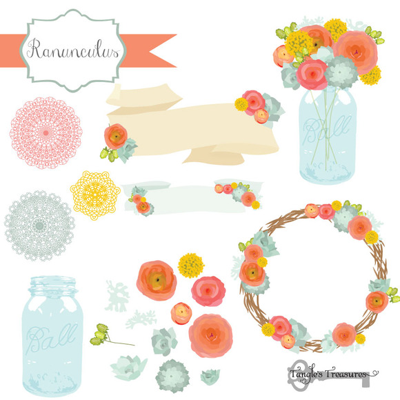 Ranuncula clipart grey flower Ranunculus Check  Clipart by