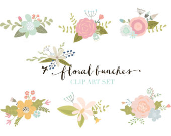 Ranuncula clipart hand drawn flower Etsy Blooms Clip Blooms drawn