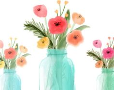 Ranuncula clipart mason jar flower Rose Ranunculus a Greenery Commercial