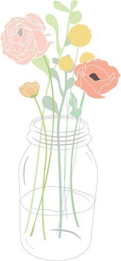 Ranuncula clipart mason jar flower Rose friends of Flower and