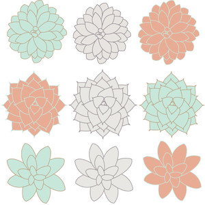 Ranuncula clipart mint flower Polyvore Mint collections clipart <3
