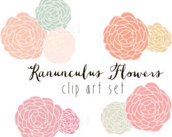 Vintage Flower clipart wedding floral Digital Art Flowers and clipart