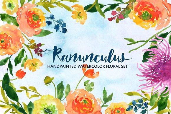 Ranuncula clipart watercolor flower Illustrations Ranunculus ~ on Clip