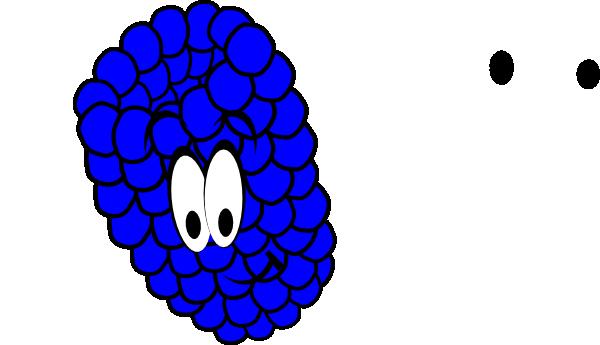 Berry clipart blue raspberry Art com Download Clker Smiling